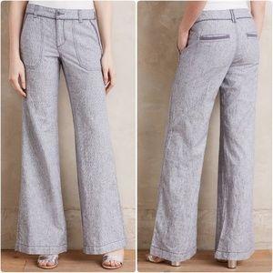 PILCRO wide leg linen pants